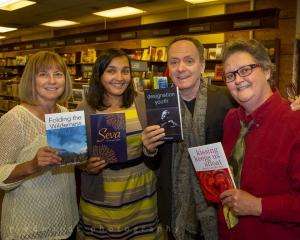Joan Shillington, Sharanpal Ruprai, David Bateman, Laurie MacFayden  - photo by Randall Edwards
